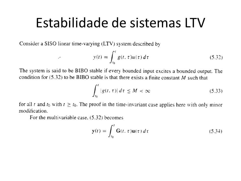 Estabilidade de sistemas LTV
