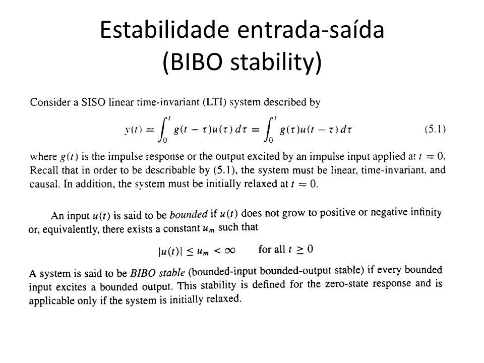 Estabilidade entrada-saída (BIBO stability)