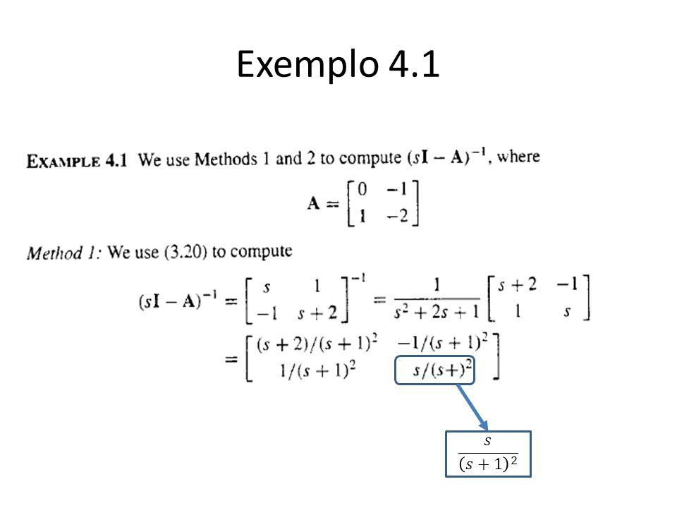 Exemplo 4.1 𝑠 𝑠+1 2
