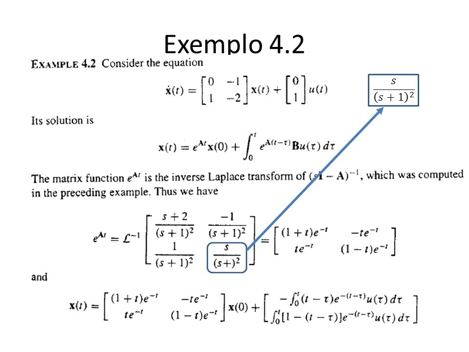 Exemplo 4.2 𝑠 𝑠+1 2