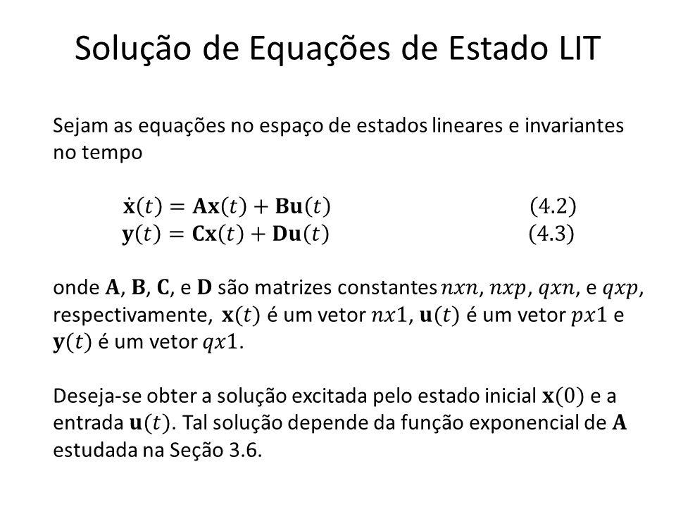 Solução de Equações de Estado LIT