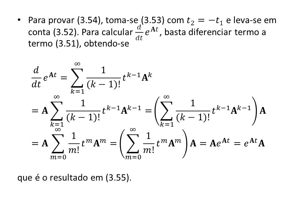 Para provar (3. 54), toma-se (3