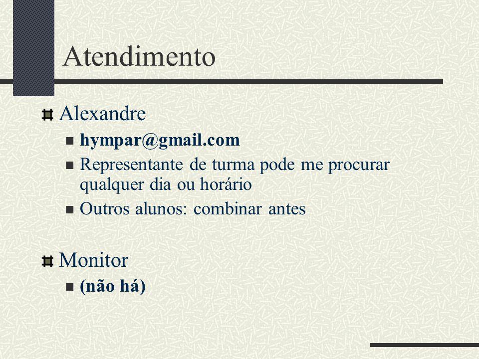 Atendimento Alexandre Monitor hympar@gmail.com