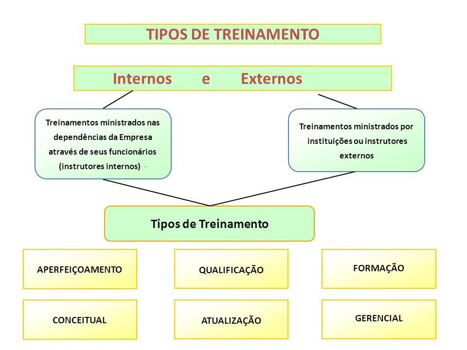 Treinamentos ministrados por instituições ou instrutores externos