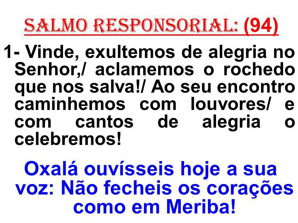 salmo responsorial: (94)