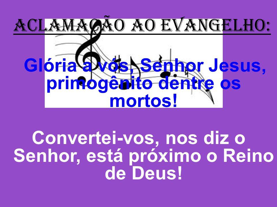 Convertei-vos, nos diz o Senhor, está próximo o Reino de Deus!