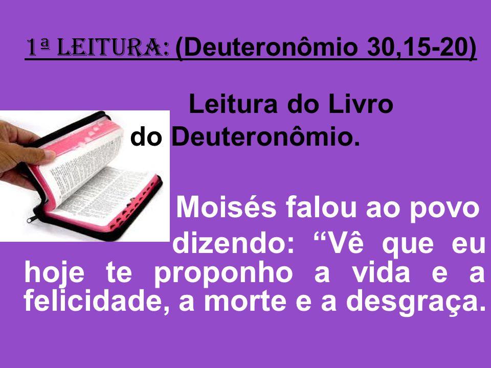 1ª Leitura: (Deuteronômio 30,15-20)