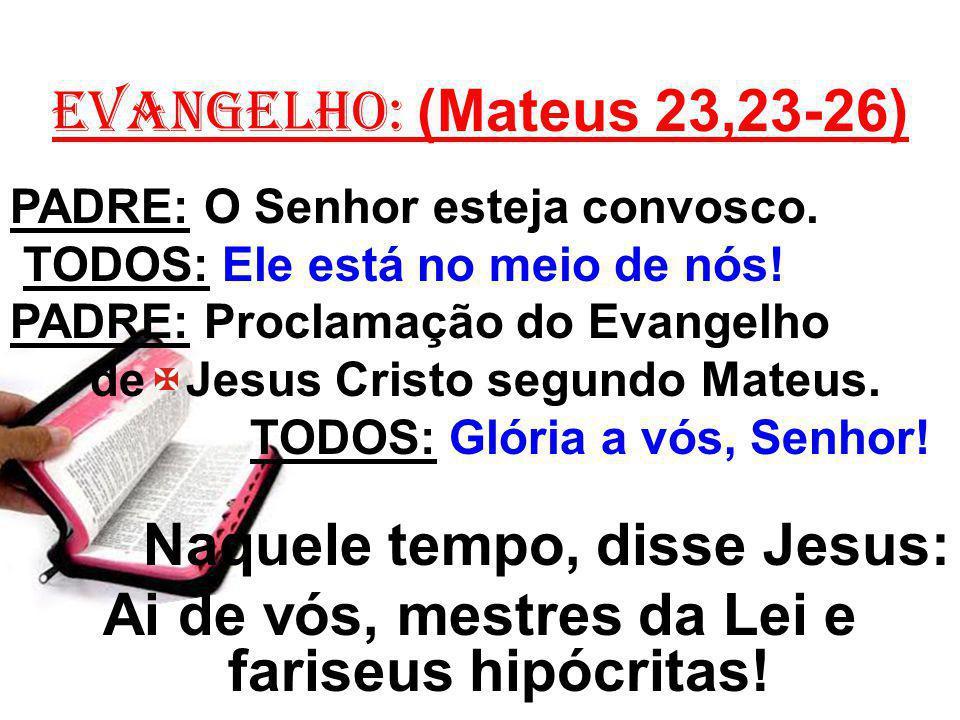Ai de vós, mestres da Lei e fariseus hipócritas!