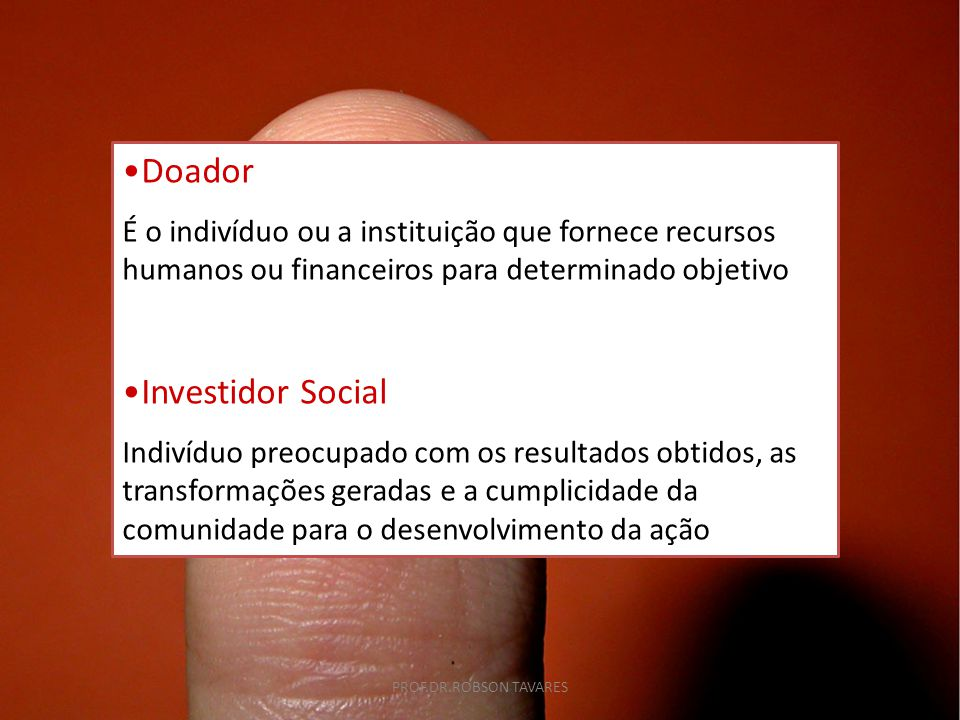 Doador Investidor Social