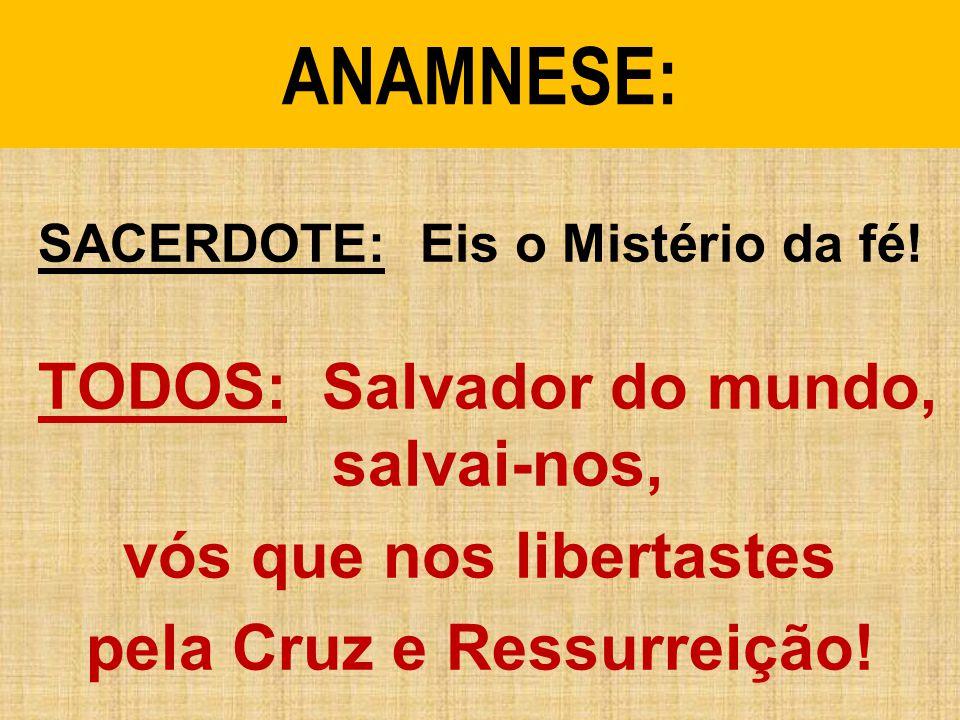 ANAMNESE: vós que nos libertastes pela Cruz e Ressurreição!