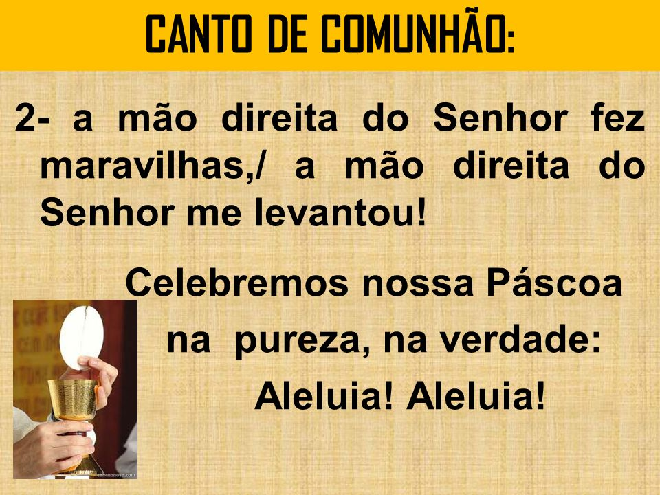 CANTO DE COMUNHÃO: