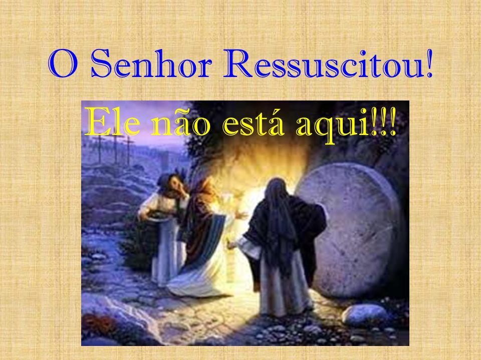 O Senhor Ressuscitou! Ele não está aqui!!!