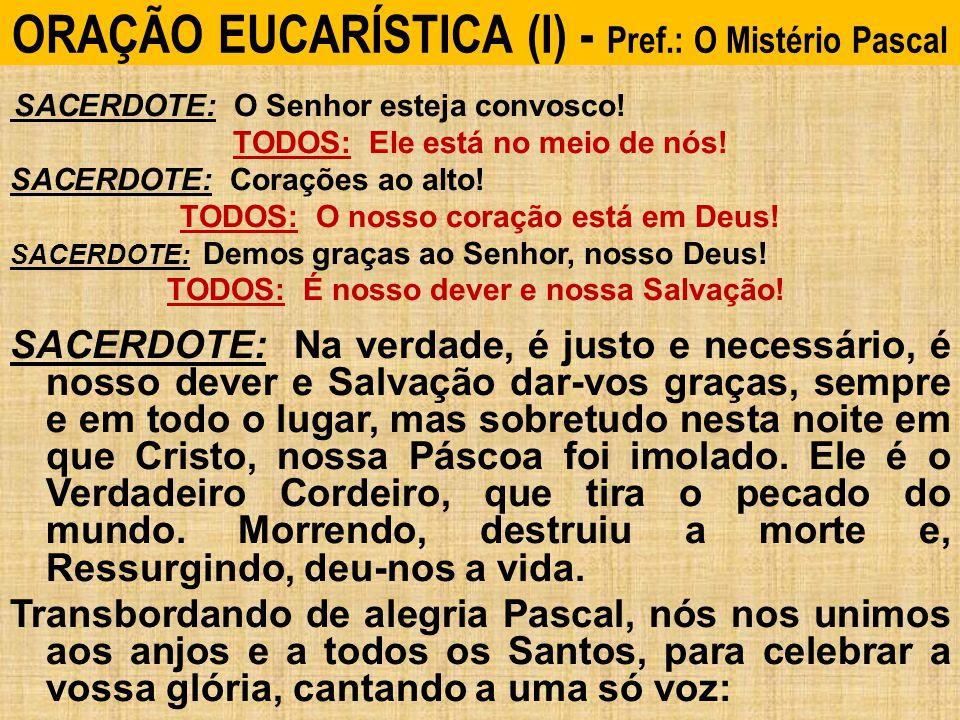 ORAÇÃO EUCARÍSTICA (I) - Pref.: O Mistério Pascal