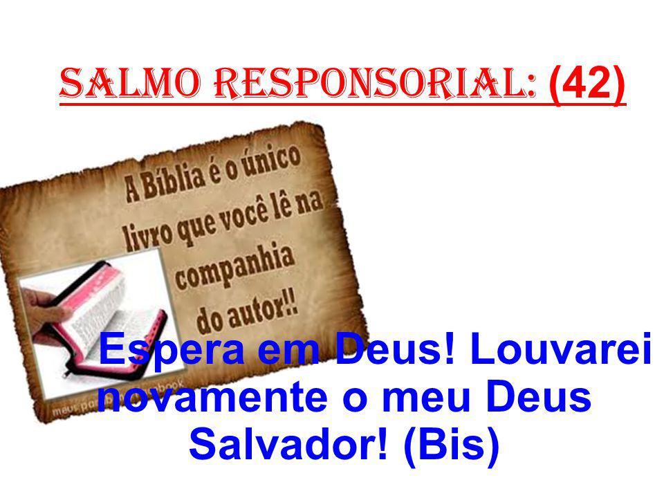 salmo responsorial: (42) Espera em Deus