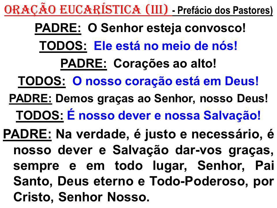 ORAÇÃO EUCARÍSTICA (III) - Prefácio dos Pastores)