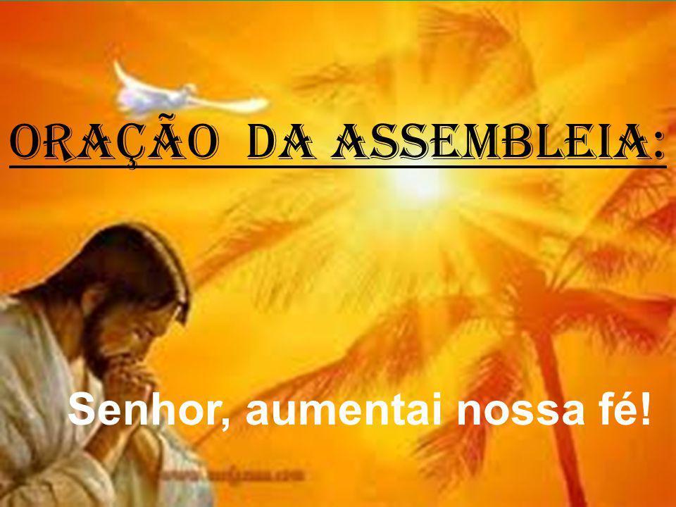 ORAÇÃO DA ASSEMBLEIA: Senhor, aumentai nossa fé!