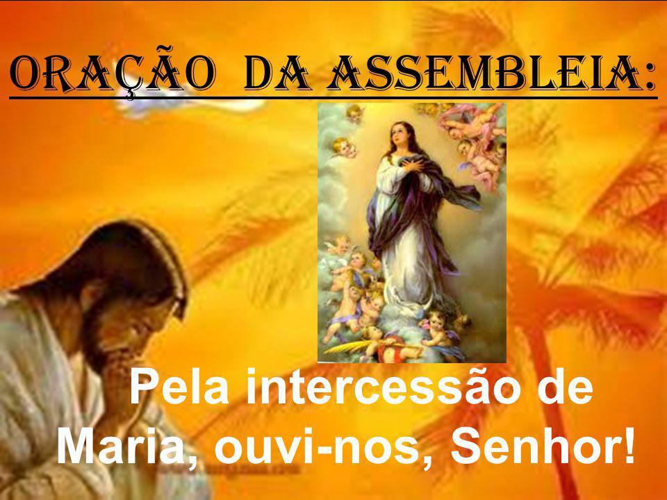 Pela intercessão de Maria, ouvi-nos, Senhor!