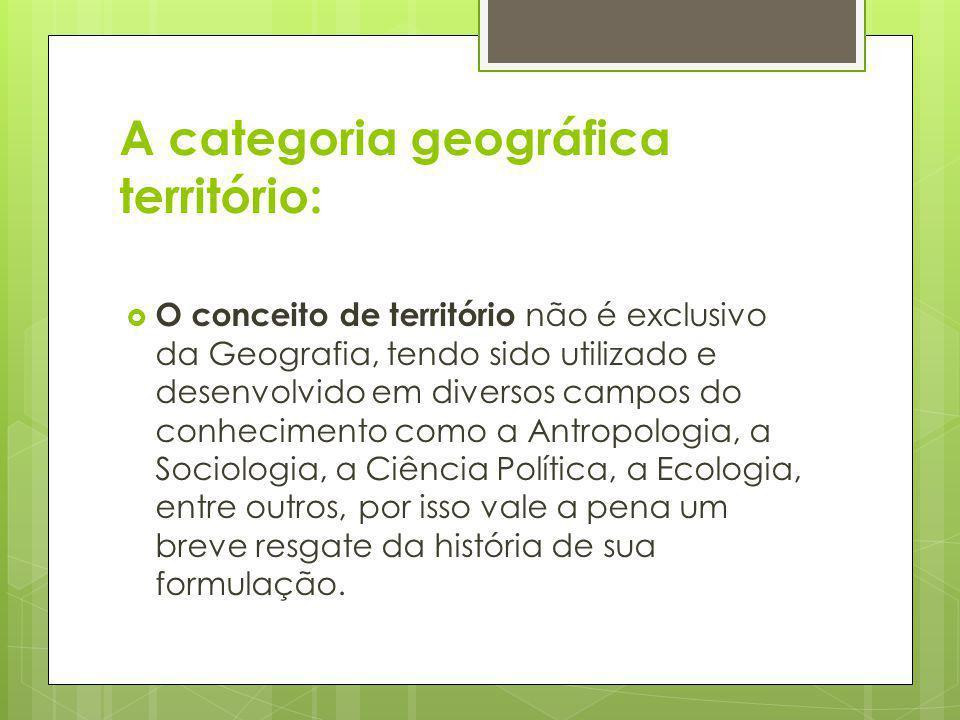 A categoria geográfica território: