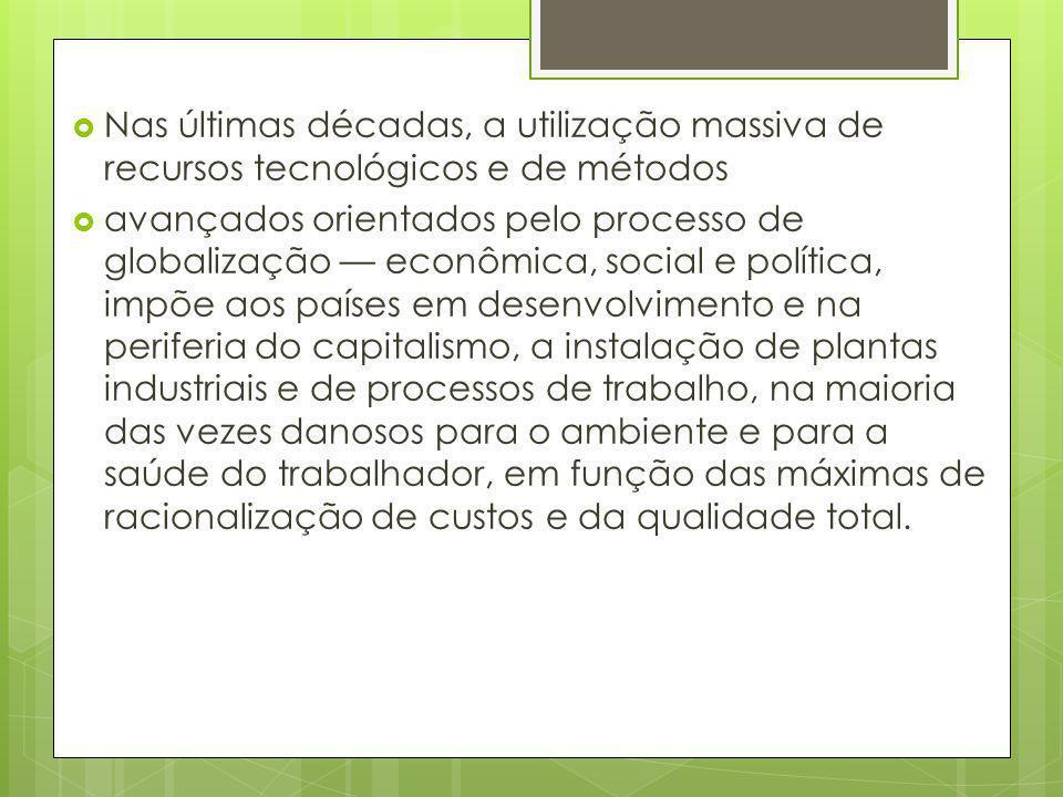 Nas últimas décadas, a utilização massiva de recursos tecnológicos e de métodos
