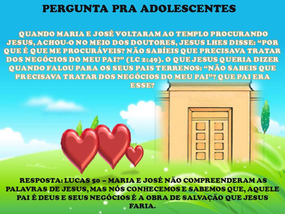 PERGUNTA PRA ADOLESCENTES
