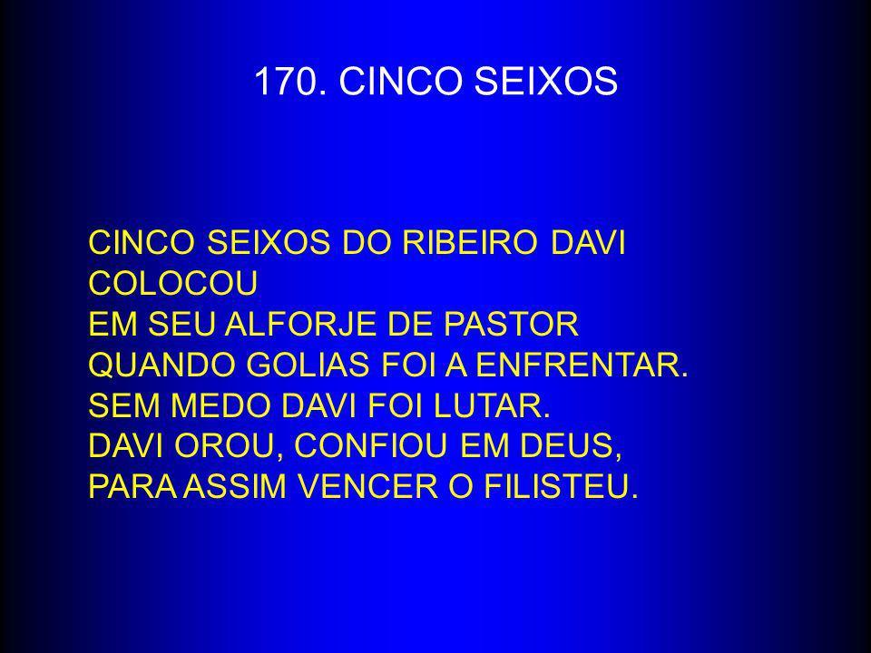 170. CINCO SEIXOS Cinco seixos do ribeiro Davi colocou