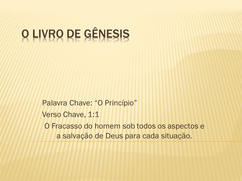 O LIVRO DE GÊNESIS Palavra Chave: O Princípio Verso Chave, 1:1