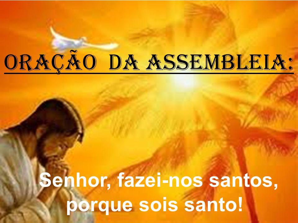 ORAÇÃO DA ASSEMBLEIA: Senhor, fazei-nos santos, porque sois santo!