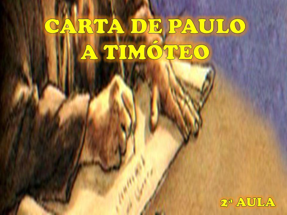 CARTA DE PAULO A TIMÓTEO