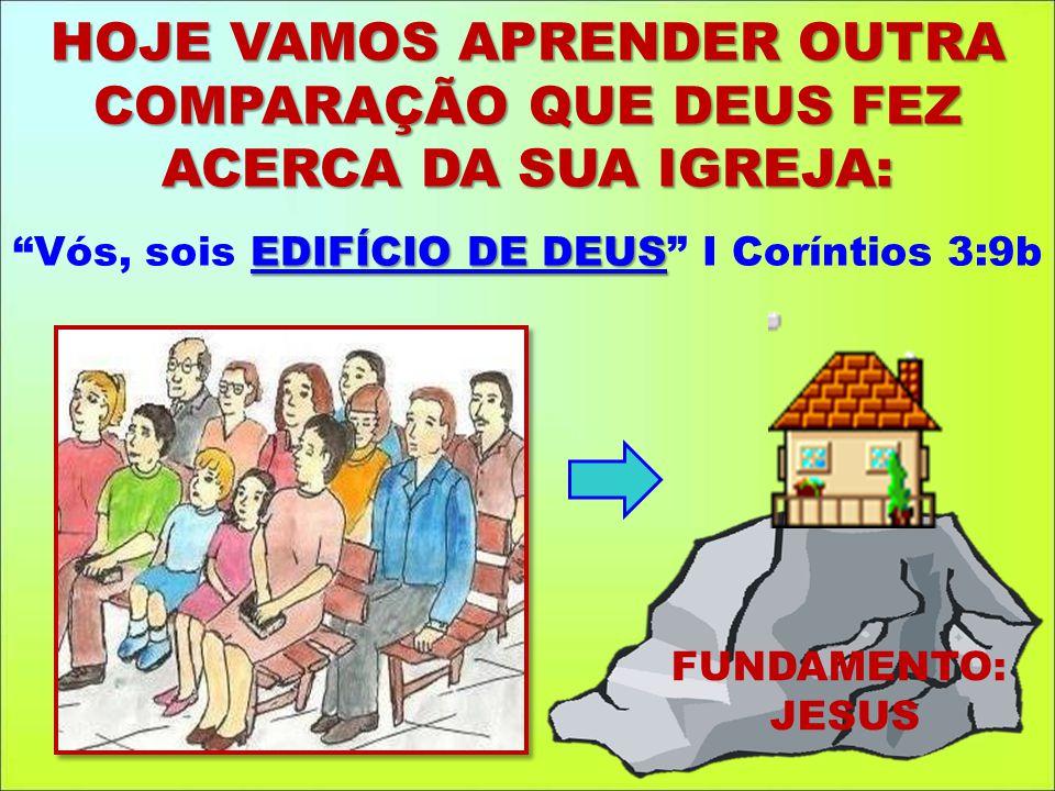 Vós, sois EDIFÍCIO DE DEUS I Coríntios 3:9b