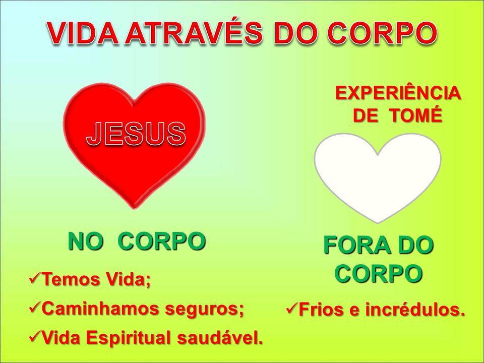 VIDA ATRAVÉS DO CORPO JESUS