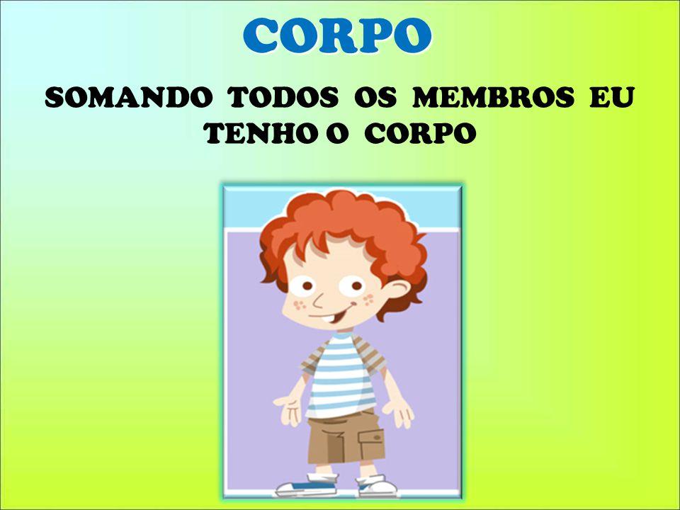 SOMANDO TODOS OS MEMBROS EU TENHO O CORPO