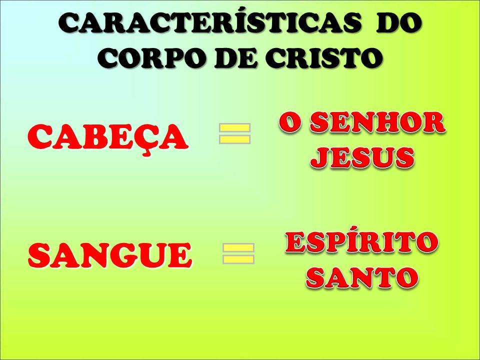 CARACTERÍSTICAS DO CORPO DE CRISTO