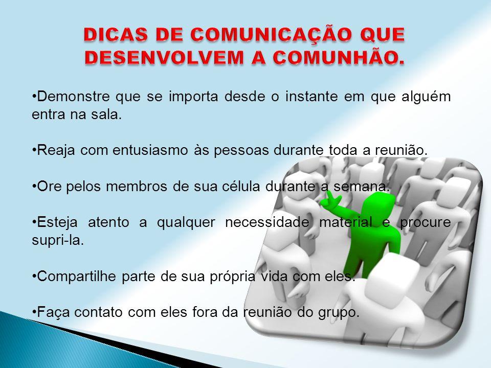 DICAS DE COMUNICAÇÃO QUE DESENVOLVEM A COMUNHÃO.