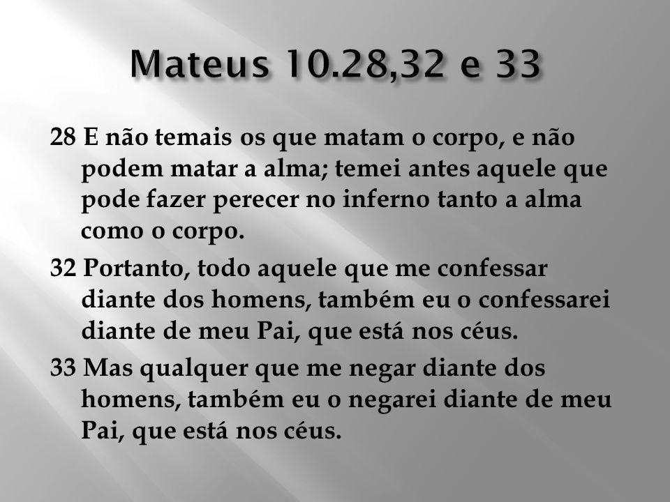 Mateus 10.28,32 e 33