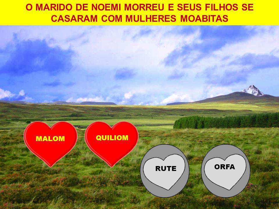 O MARIDO DE NOEMI MORREU E SEUS FILHOS SE CASARAM COM MULHERES MOABITAS