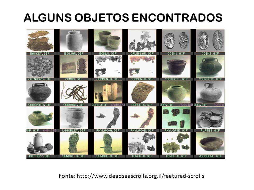ALGUNS OBJETOS ENCONTRADOS