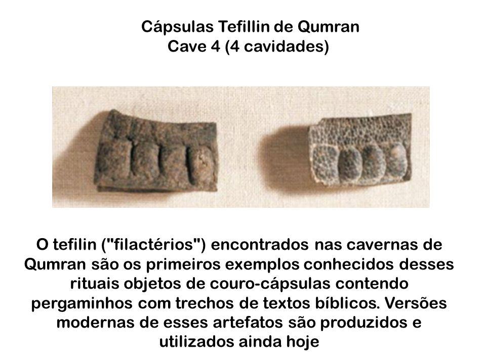 Cápsulas Tefillin de Qumran Cave 4 (4 cavidades)