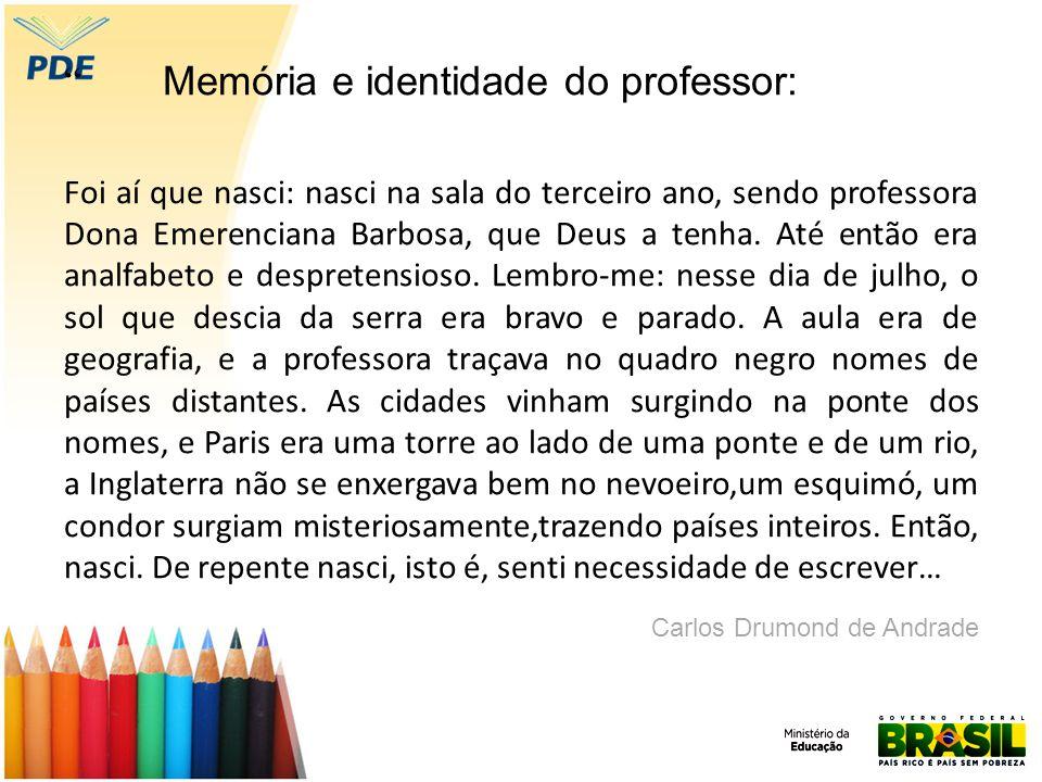 Memória e identidade do professor: