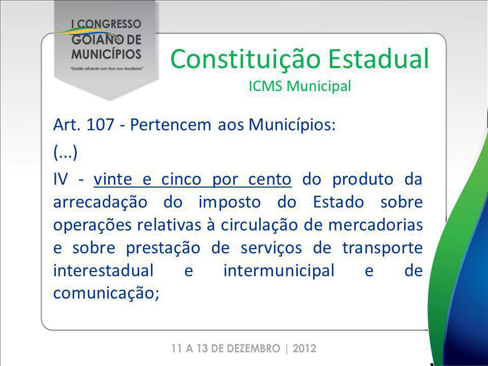 Constituição Estadual ICMS Municipal