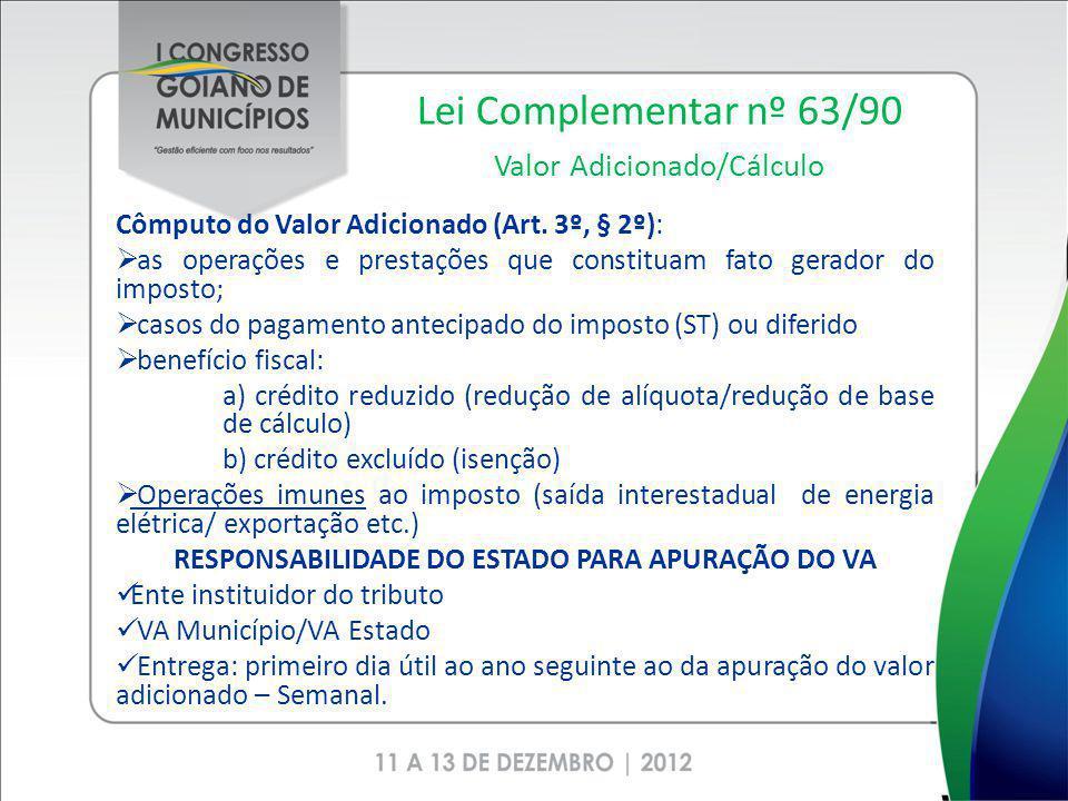 Lei Complementar nº 63/90 Valor Adicionado/Cálculo