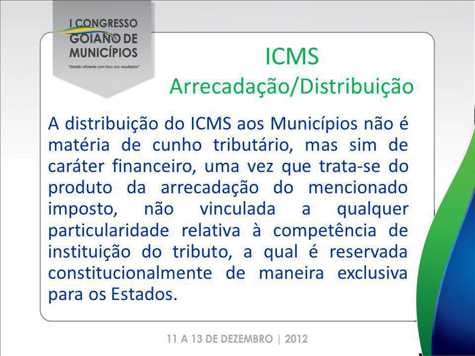 ICMS Arrecadação/Distribuição