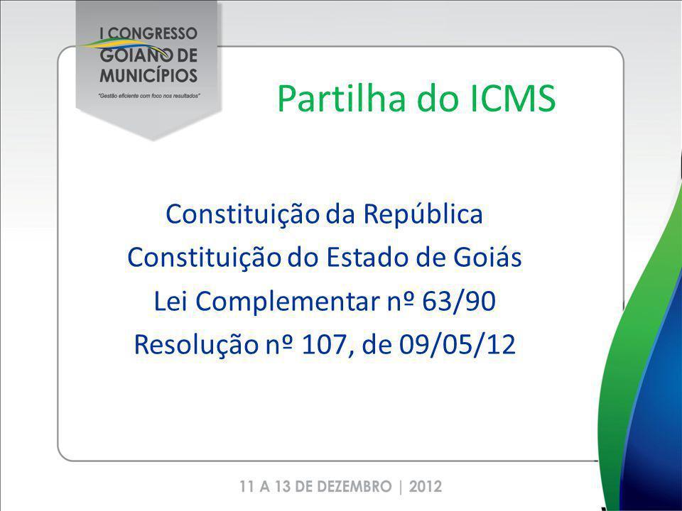 Partilha do ICMS Constituição da República