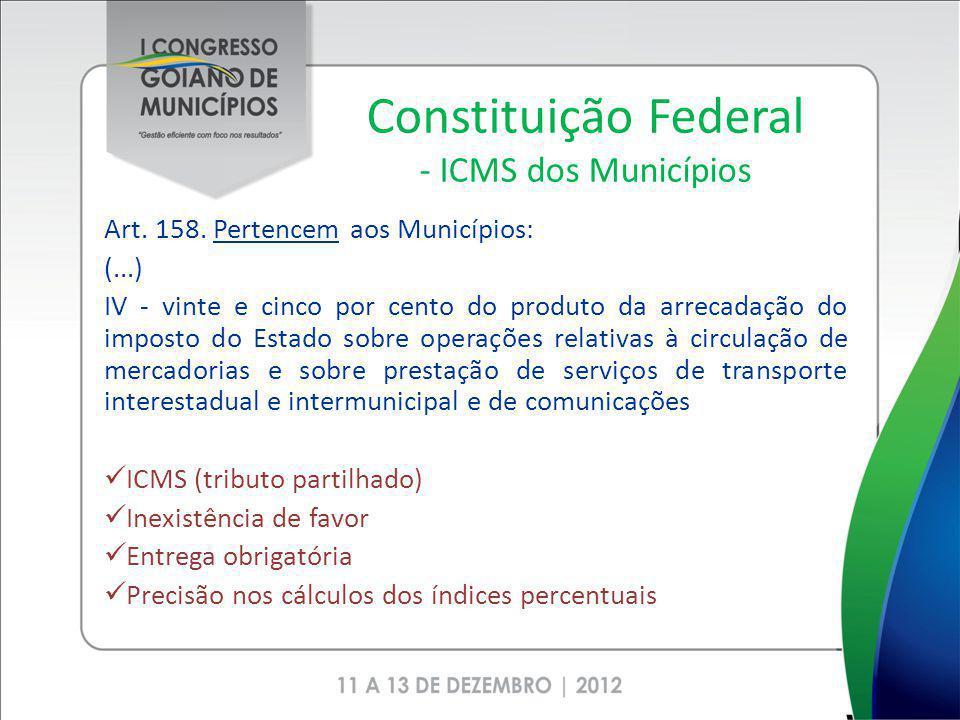 Constituição Federal - ICMS dos Municípios