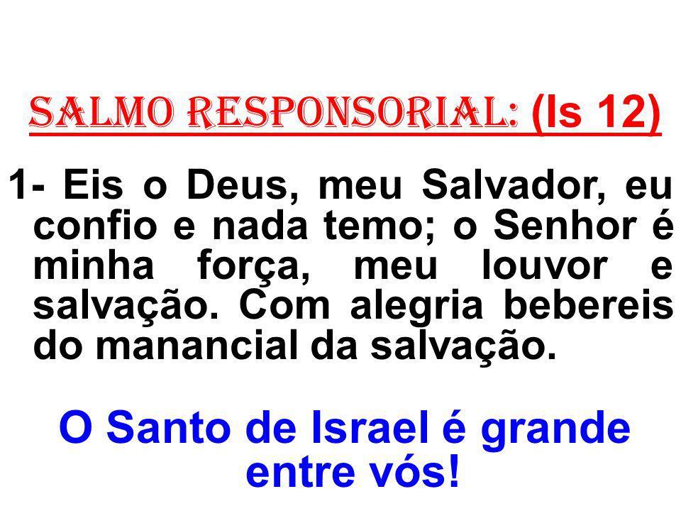 O Santo de Israel é grande entre vós!
