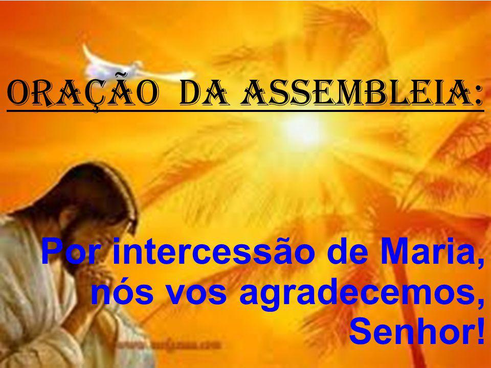 ORAÇÃO DA ASSEMBLEIA: Por intercessão de Maria, nós vos agradecemos, Senhor!