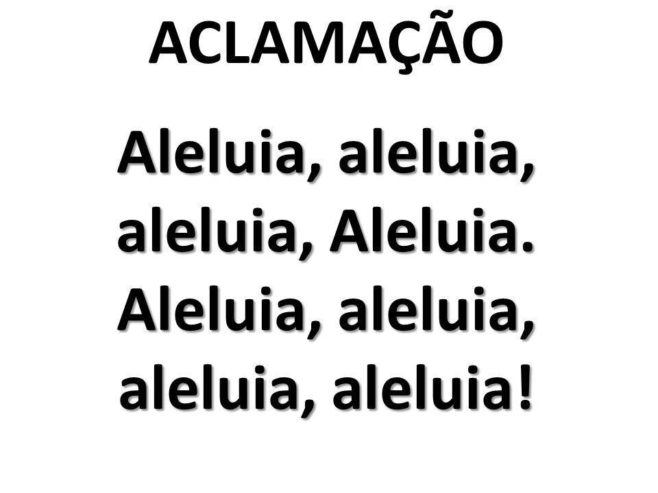 ACLAMAÇÃO Aleluia, aleluia, aleluia, Aleluia. Aleluia, aleluia, aleluia, aleluia!