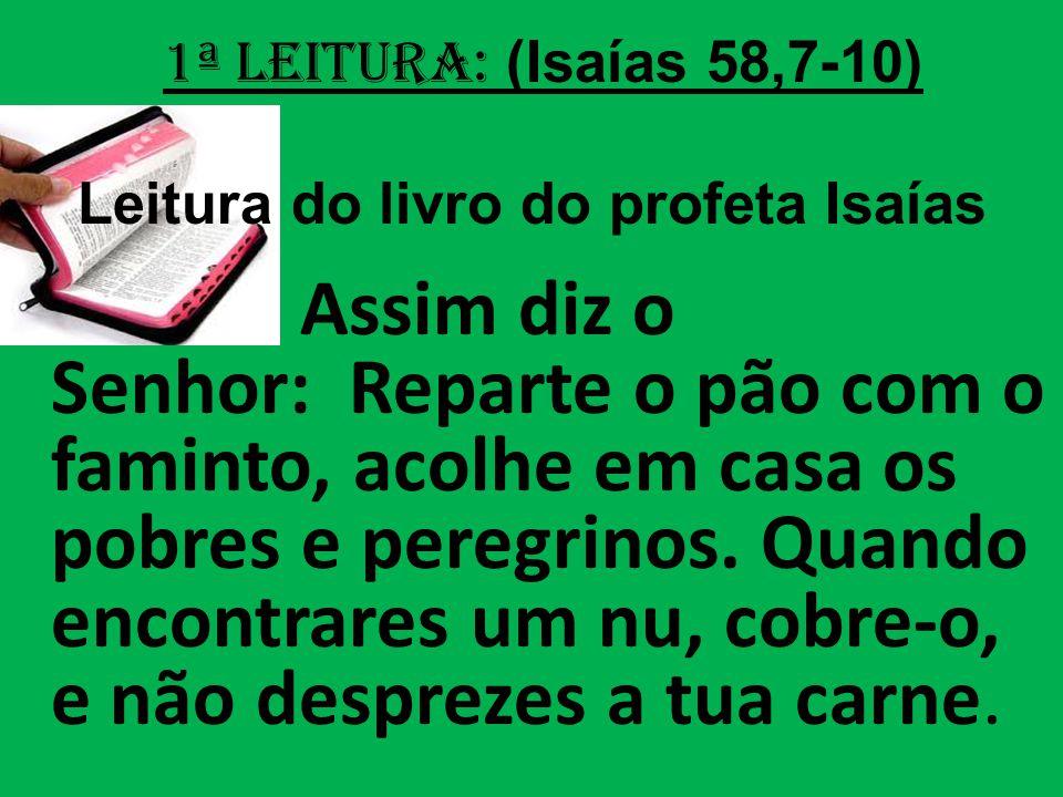 Leitura do livro do profeta Isaías
