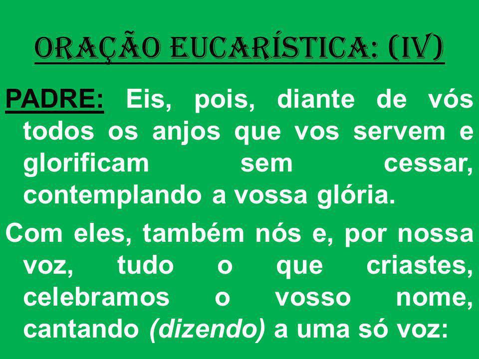 ORAÇÃO EUCARÍSTICA: (IV)