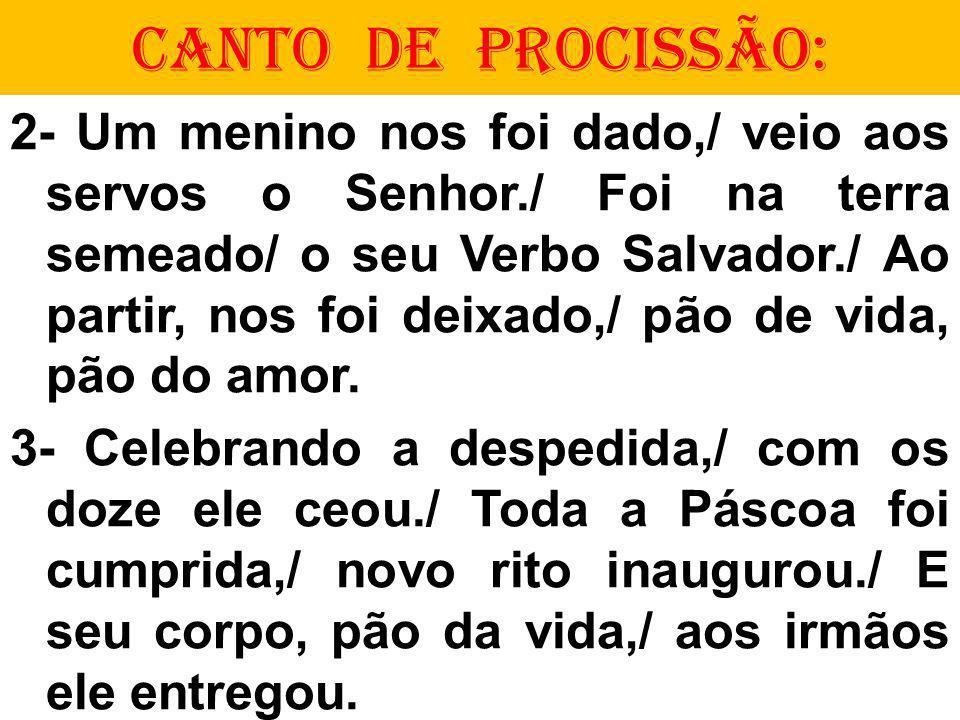 CANTO DE PROCISSÃO: