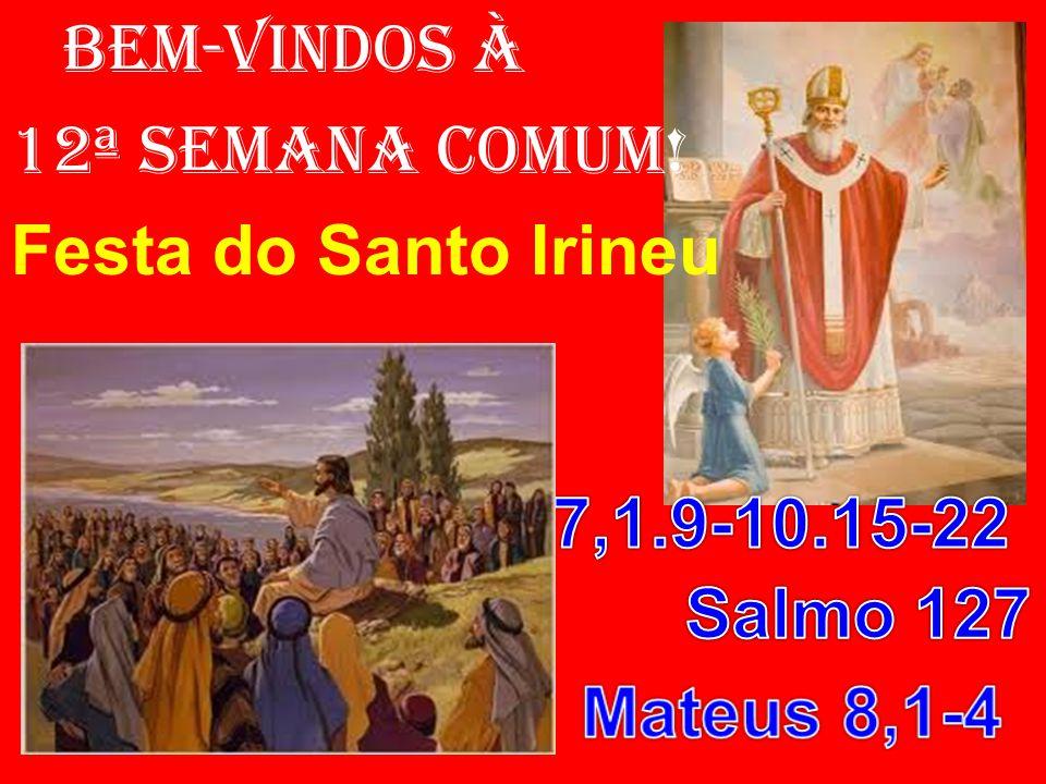BEM-VINDOS À 12ª SEMANA COMUM! Festa do Santo Irineu
